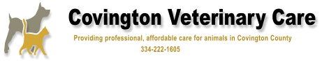 Covington Veterinary Care              Providing professional, affordable care for animals in Covington County                                                  334-222-1605